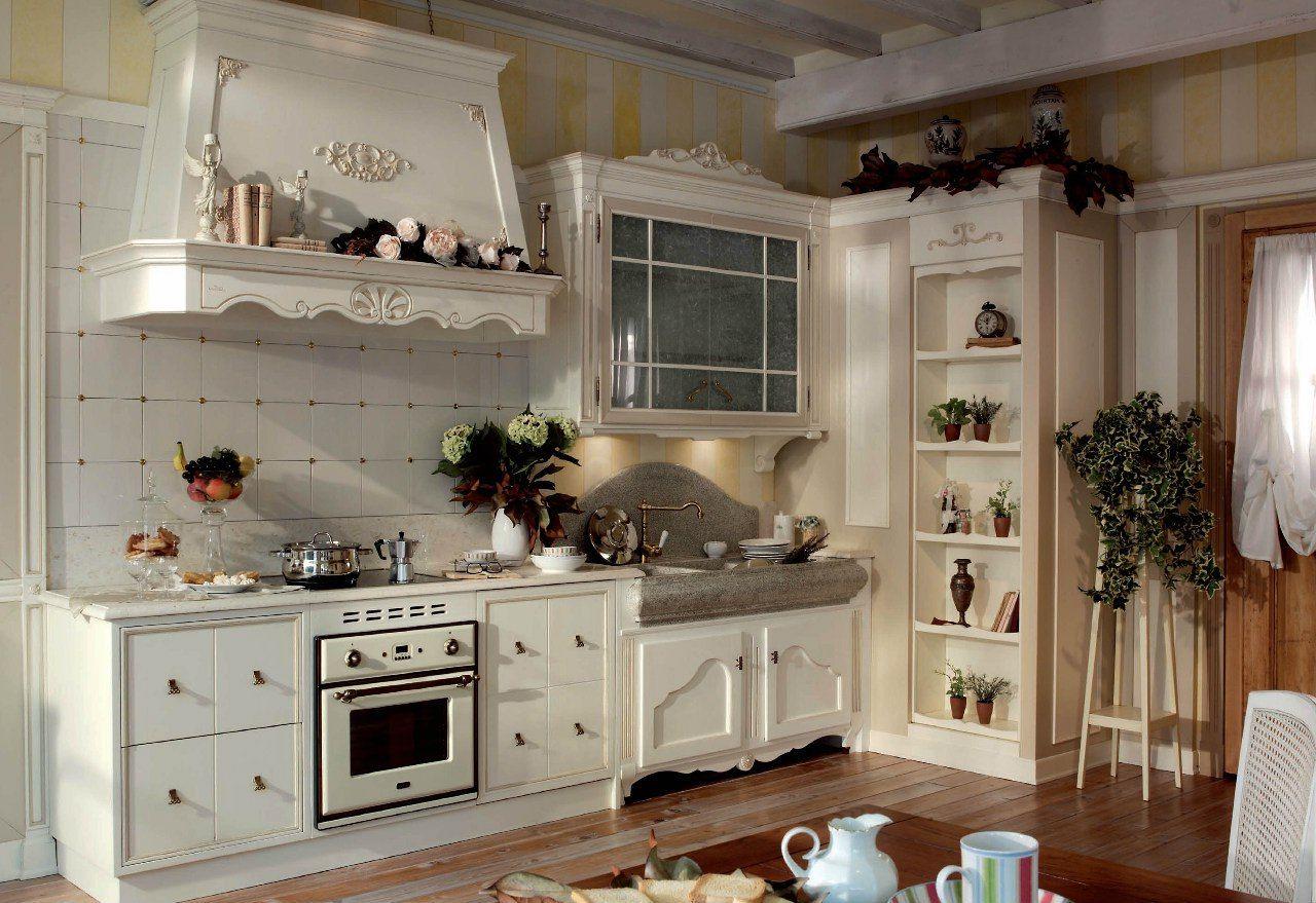 kuchnia prowansalska drewniana