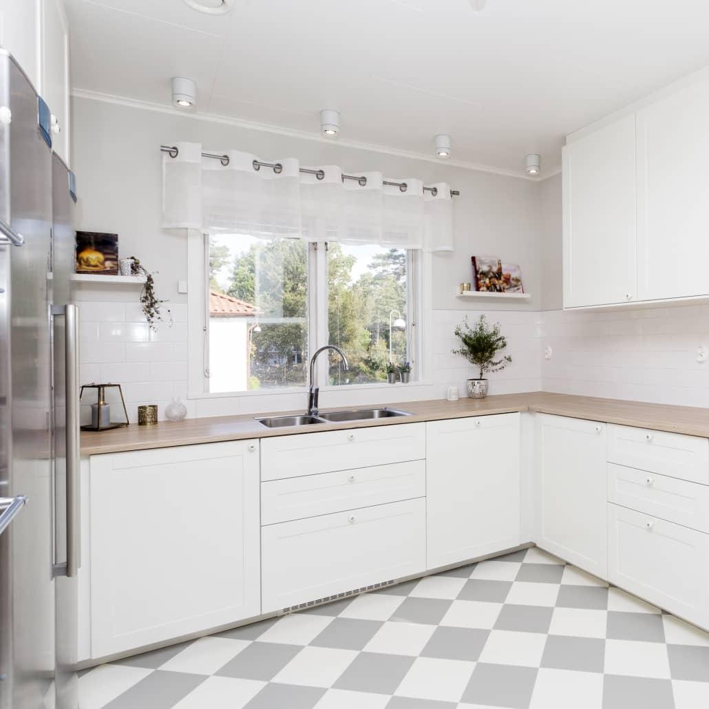 kuchnia skandynawska biała